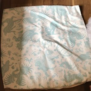 Other - New Sea Creatures aqua and white pillow cover